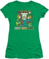 Garfield juniors t-shirt Best Gift Ever kelly green