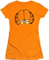 Garfield juniors t-shirt Big Head orange
