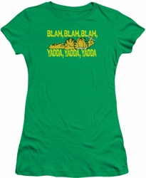 Garfield juniors t-shirt Blah Blah Blah kelly green