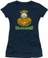 Garfield juniors t-shirt Cat O Lantern navy