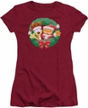 Garfield juniors t-shirt Christmas Wreath cardinal
