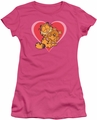 Garfield juniors t-shirt Cute N' Cuddly hot pink