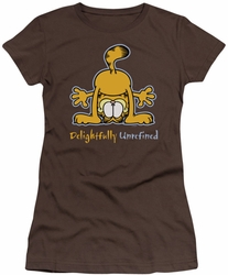 Garfield juniors t-shirt Delightfully Unrefined coffee