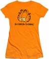 Garfield juniors t-shirt Do I Look Like I'm Kidding orange
