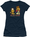 Garfield juniors t-shirt Drooling Pumpkins navy