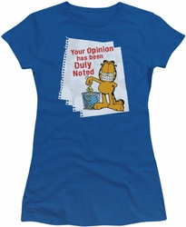 Garfield juniors t-shirt Duly Noted royal