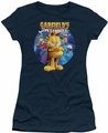 Garfield juniors t-shirt DVD Art navy