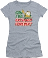 Garfield juniors t-shirt Excused Forever heather