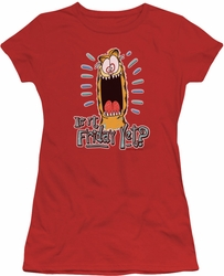 Garfield juniors t-shirt Friday red