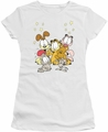 Garfield juniors t-shirt Friends Are Best white