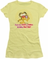 Garfield juniors t-shirt From Zero To Perky banana