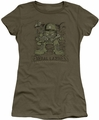 Garfield juniors t-shirt General Laziness military green