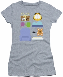 Garfield juniors t-shirt Gift Set athletic heather