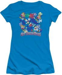Garfield juniors t-shirt Go Hawaiian turquoise