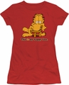 Garfield juniors t-shirt Happy Face red