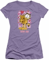 Garfield juniors t-shirt Hug Me lavendar