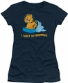 Garfield juniors t-shirt I Don't Do Mornings navy