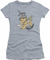 Garfield juniors t-shirt I'm With The Band heather