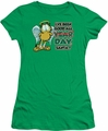 Garfield juniors t-shirt I've Been Good kelly green