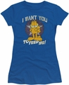 Garfield juniors t-shirt I Want You royal