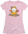 Garfield juniors t-shirt In The Garden pink