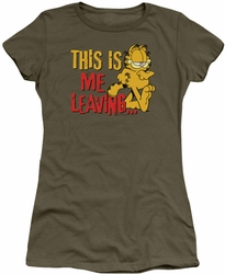 Garfield juniors t-shirt Leaving military green