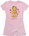 Garfield juniors t-shirt Lovable pink