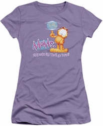 Garfield juniors t-shirt Make The World Go Around lavendar