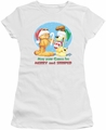 Garfield juniors t-shirt Merry And Striped white