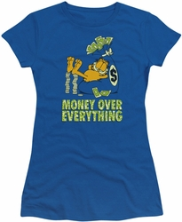 Garfield juniors t-shirt Money Is Everything royal