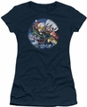 Garfield juniors t-shirt Moonlight Ride navy