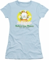 Garfield juniors t-shirt Mother's Love Flowers light blue