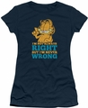 Garfield juniors t-shirt Never Wrong navy