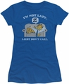 Garfield juniors t-shirt Not Lazy royal