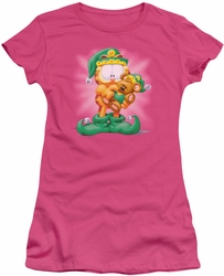 Garfield juniors t-shirt Number 1 Elf hot pink