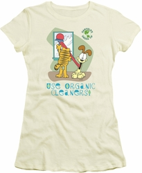 Garfield juniors t-shirt Organic Cleaners cream