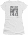 Garfield juniors t-shirt Relax white