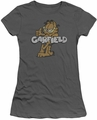 Garfield juniors t-shirt Retro Garf charcoal