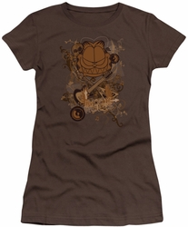 Garfield juniors t-shirt Rock Rules coffee