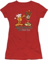 Garfield juniors t-shirt Share The Season red
