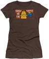 Garfield juniors t-shirt Show Me The Coffee coffee
