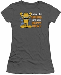 Garfield juniors t-shirt Smiling charcoal