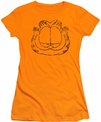 Garfield juniors t-shirt Smirking Distressed orange