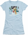 Garfield juniors t-shirt Snow Fun light blue