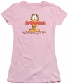 Garfield juniors t-shirt Sweetheart pink