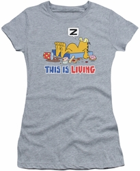 Garfield juniors t-shirt This Is Living heather