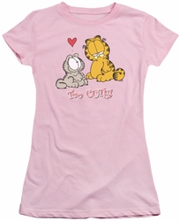 Garfield juniors t-shirt Too Cute pink