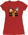 Garfield juniors t-shirt Trick Or Treat red