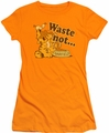 Garfield juniors t-shirt Waste Not orange