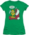 Garfield juniors t-shirt Wish Big kelly green